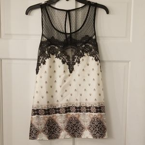 XL Lace Trimmed Tank